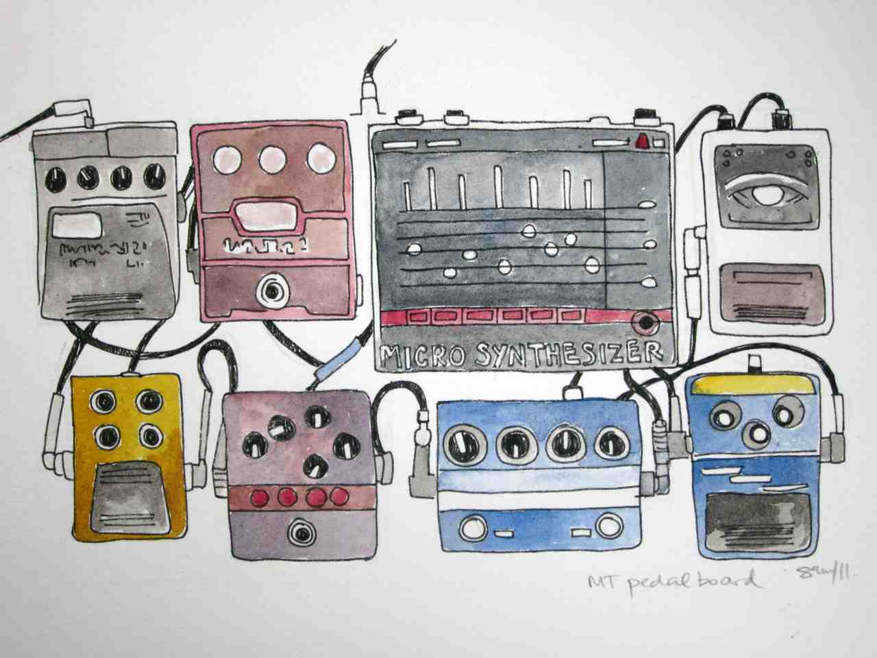 mary timony pedal board painting. Black Bedroom Furniture Sets. Home Design Ideas