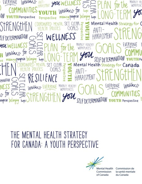 cover page of the illustrated Mental Health Commission of Canada national mental health strategy