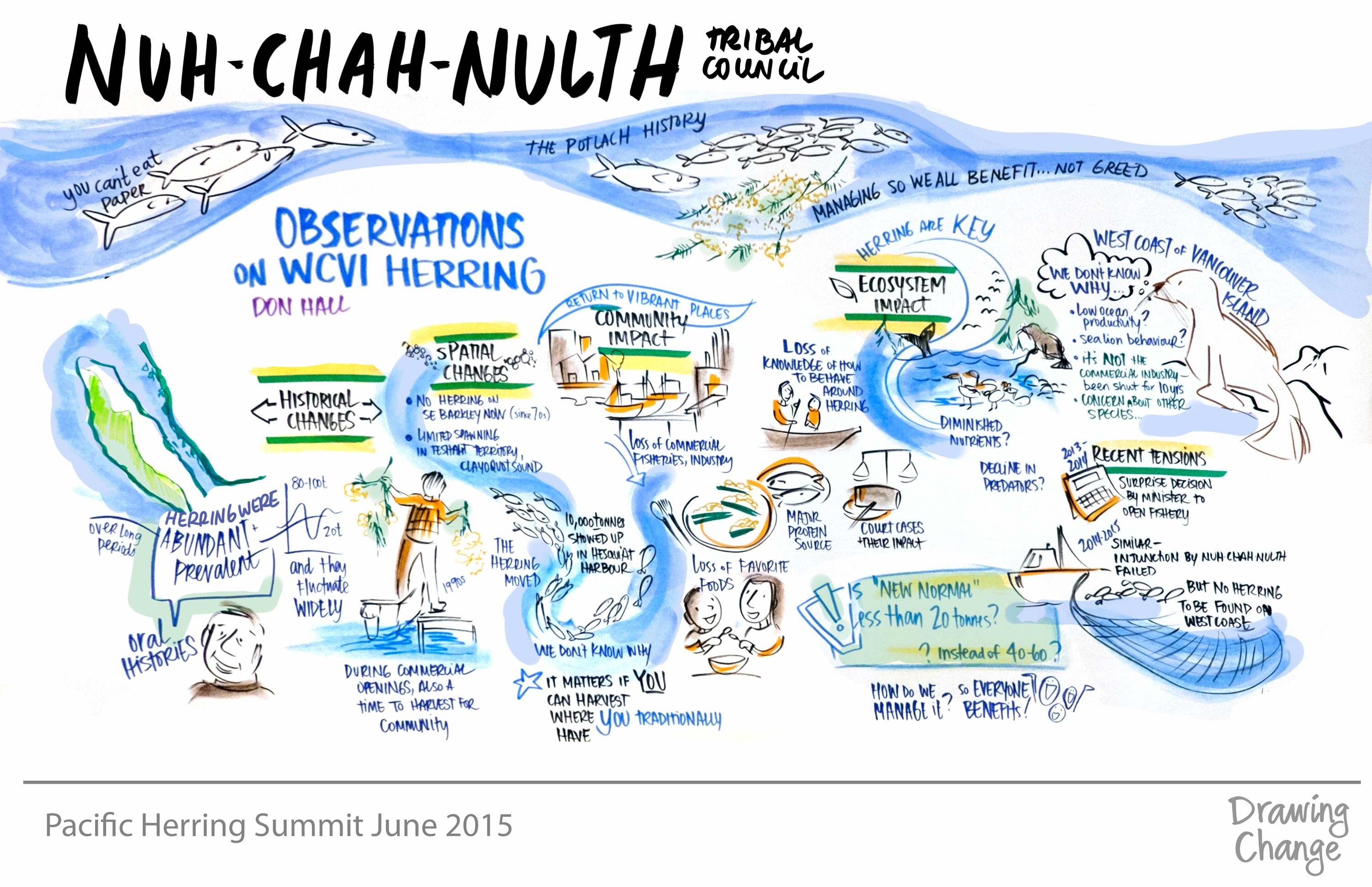 OMF Herring Nuh-Chah-Nulth graphic recording
