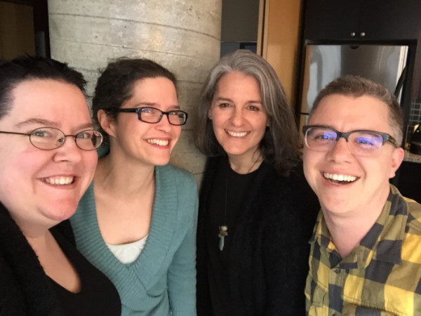 Drawn Together through Visual Practice - four editors in the photo