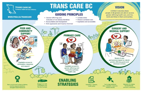 Trans Care BC strategic vision graphic