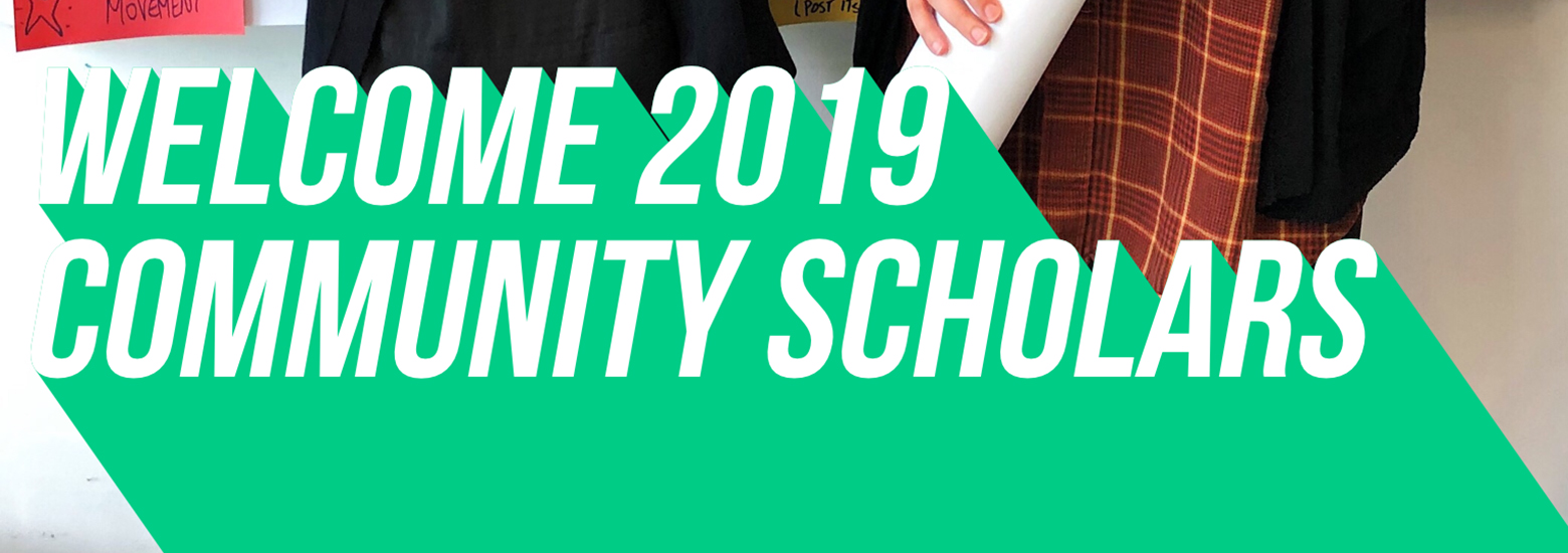text welcome community scholars